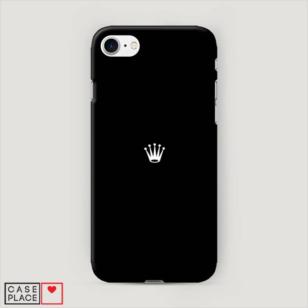 e7e8fc5fc961e Пластиковый чехол для iPhone 8 с принтом Белая корона на черном фоне ...