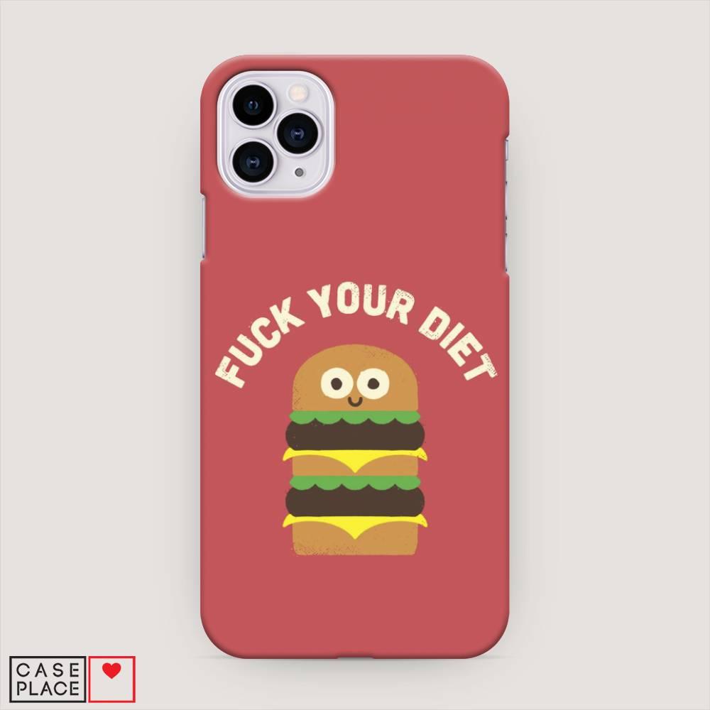 Кейс для iPhone 11 Pro Смешной бургер