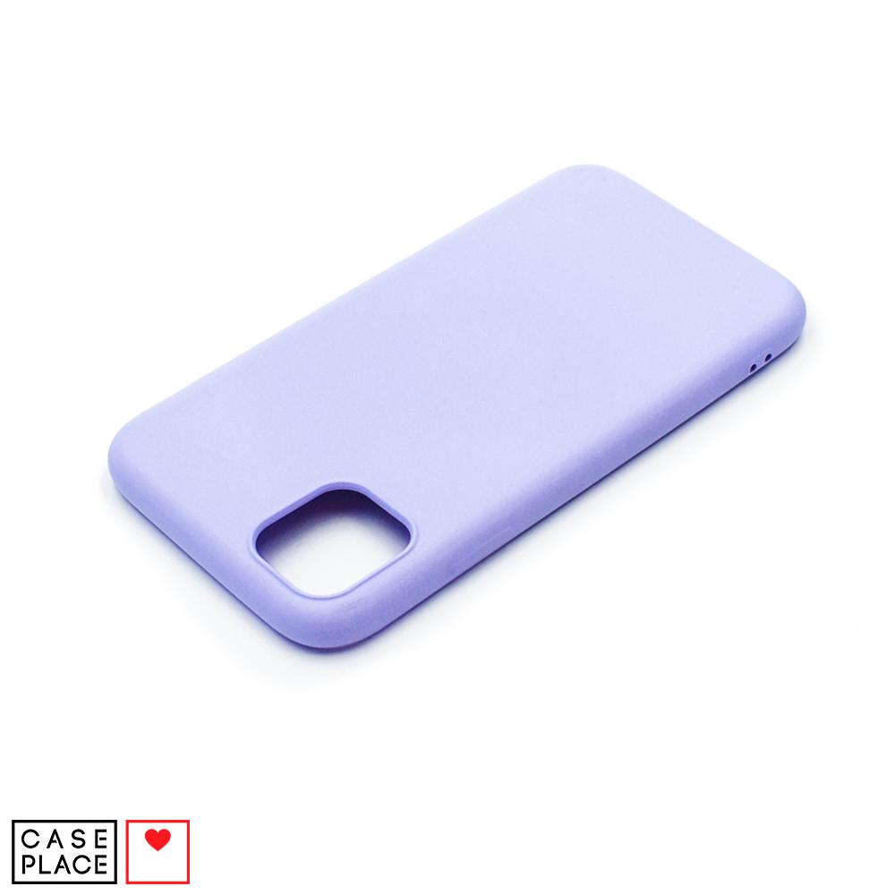 Силиконовый сиреневый чехол Soft Touch для iPhone 11