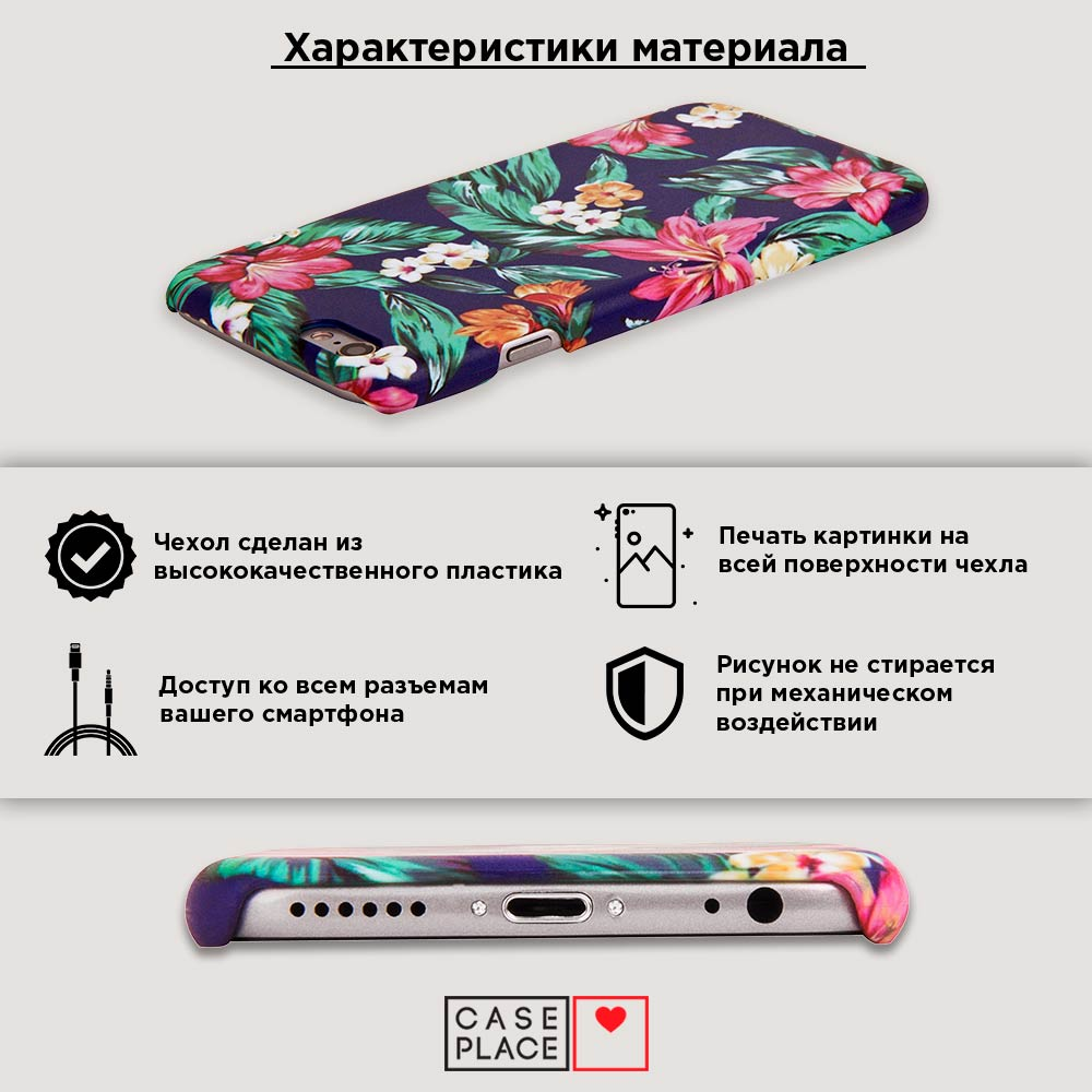 Пластиковый чехол Кензо в цветах на iPhone XR (10R)