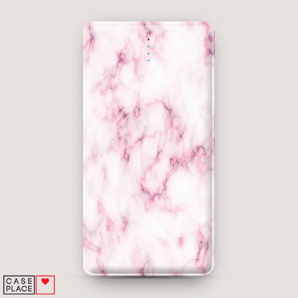 Power bank 10000 mАh Мрамор с розовым