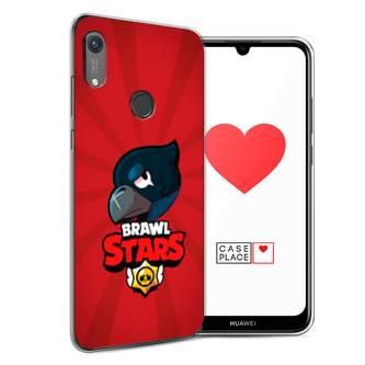 Силиконовый чехол Crow Brawl Stars на Huawei Y6s