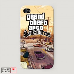 Пластиковый чехол GTA san andreas пейзаж на iPhone 4/4S