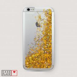 Жидкий чехол с блестками без принта на iPhone 6/6S Plus