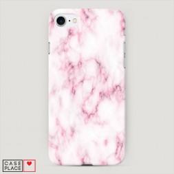 Пластиковый чехол Мрамор с розовым на iPhone 7