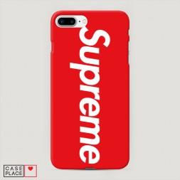 Пластиковый чехол Supreme на красном фоне на iPhone 8 Plus