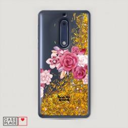 Жидкий чехол с блестками You are special на Nokia 5