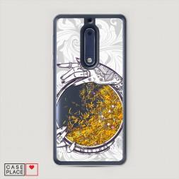 Жидкий чехол с блестками Прозрачное зеркало на Nokia 5