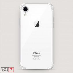 Противоударный силиконовый чехол Прозрачный на iPhone XR (10R)