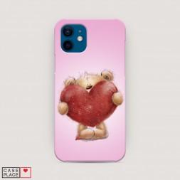 Пластиковый чехол Мишка с сердцем 5