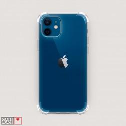 Противоударный силиконовый чехол Прозрачный на iPhone 12