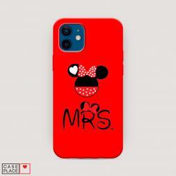 Матовый силиконовый чехол Mrs Mouse