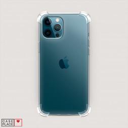 Противоударный силиконовый чехол Прозрачный на iPhone 12 Pro