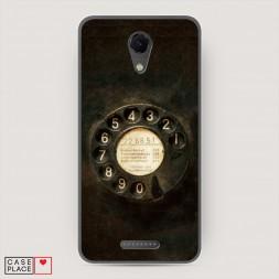Cиликоновый чехол Старинный телефон на BQ 5044 Strike