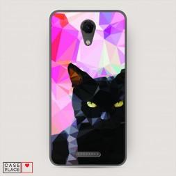 Cиликоновый чехол Графический черный кот на BQ 5044 Strike