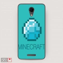 Cиликоновый чехол Minecraft алмаз на BQ 5044 Strike