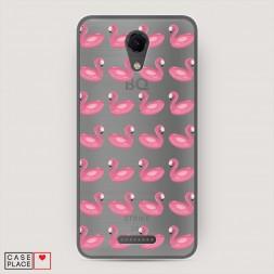 Cиликоновый чехол Надувные фламинго на BQ 5044 Strike