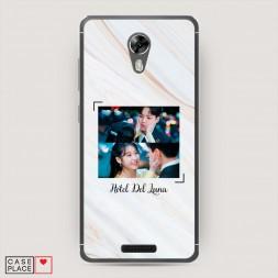 Силиконовый чехол Влюбленные Ман Воль и Чхан Сон на BQ 5201 Space