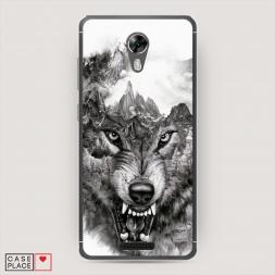 Силиконовый чехол Волк в горах на BQ 5201 Space