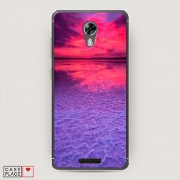 Силиконовый чехол Фиолетовый закат на BQ 5201 Space