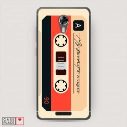 Силиконовый чехол Бежевая кассета на BQ 5201 Space