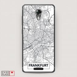 Силиконовый чехол Карта Франкфурта на BQ 5201 Space
