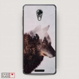 Силиконовый чехол Одинокий волк на BQ 5201 Space
