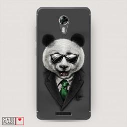 Cиликоновый чехол Деловая панда на BQ 5201 Space