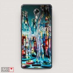 Cиликоновый чехол Кока кола пустые бутылки на BQ 5201 Space