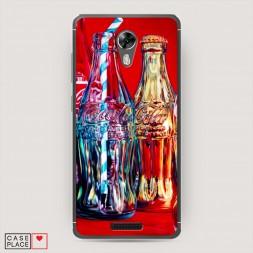 Cиликоновый чехол Кока кола с трубочкой на BQ 5201 Space