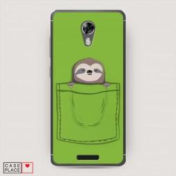 Cиликоновый чехол Ленивец в кармане на BQ 5201 Space