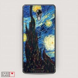 Cиликоновый чехол Ван Гог Звездная ночь на BQ 5201 Space
