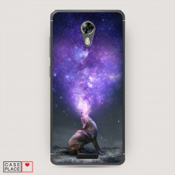 Cиликоновый чехол Звездное сердце на BQ 5201 Space