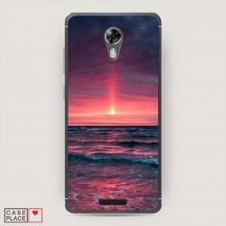 Cиликоновый чехол Розовый закат на BQ 5201 Space