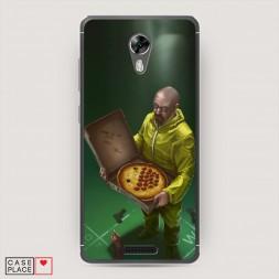 Cиликоновый чехол Breaking bad pizza на BQ 5201 Space