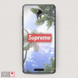 Cиликоновый чехол Supreme пальмы на BQ 5201 Space