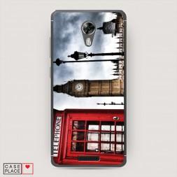 Cиликоновый чехол Лондон телефонная будка на BQ 5201 Space