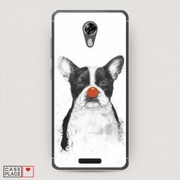 Cиликоновый чехол Красный нос на BQ 5201 Space