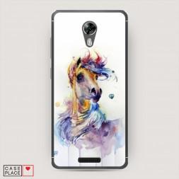 Cиликоновый чехол Лошадь арт 2 на BQ 5201 Space
