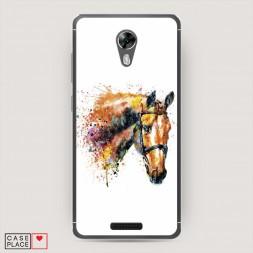 Cиликоновый чехол Лошадь арт 4 на BQ 5201 Space