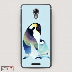 Cиликоновый чехол Пингвины семья на BQ 5201 Space