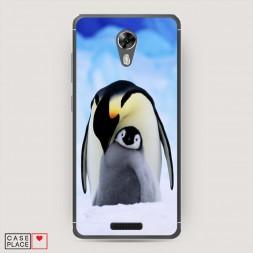 Cиликоновый чехол Пингвины семья 2 на BQ 5201 Space