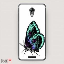 Cиликоновый чехол Бабочка арт на BQ 5201 Space