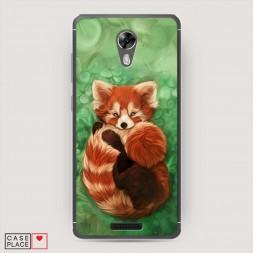 Cиликоновый чехол Красная панда 2 на BQ 5201 Space