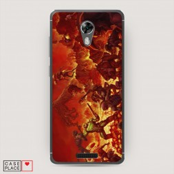 Cиликоновый чехол Doom 2 на BQ 5201 Space