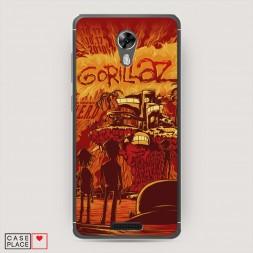 Cиликоновый чехол Gorillaz 3 на BQ 5201 Space