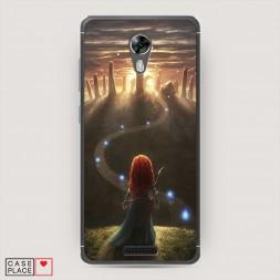 Cиликоновый чехол Храбрая сердцем 1 на BQ 5201 Space