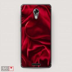 Cиликоновый чехол Текстура красный шелк на BQ 5201 Space