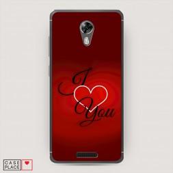 Cиликоновый чехол I love you 3 на BQ 5201 Space