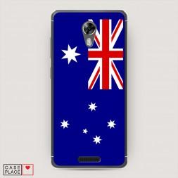 Cиликоновый чехол Флаг Австралии 2 на BQ 5201 Space